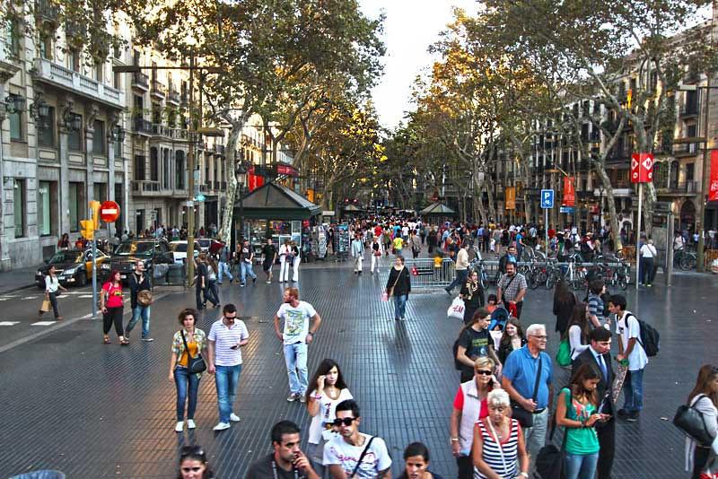 Spain-Barcelona-La-Rambla
