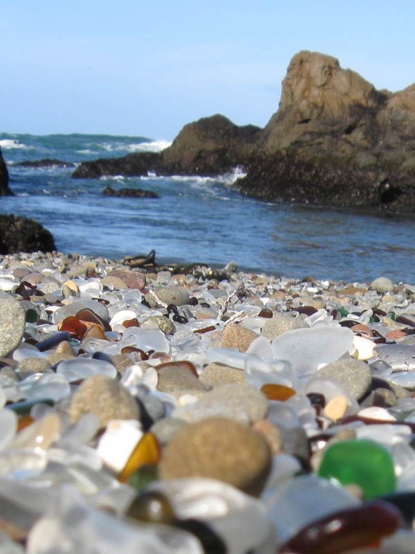 Glass Beach-Fort Bragg in California