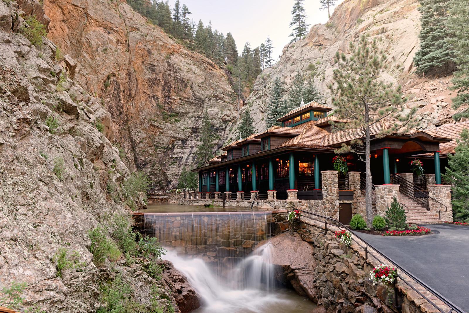 Dramatic Seven Falls Colorado Springs Colorado The