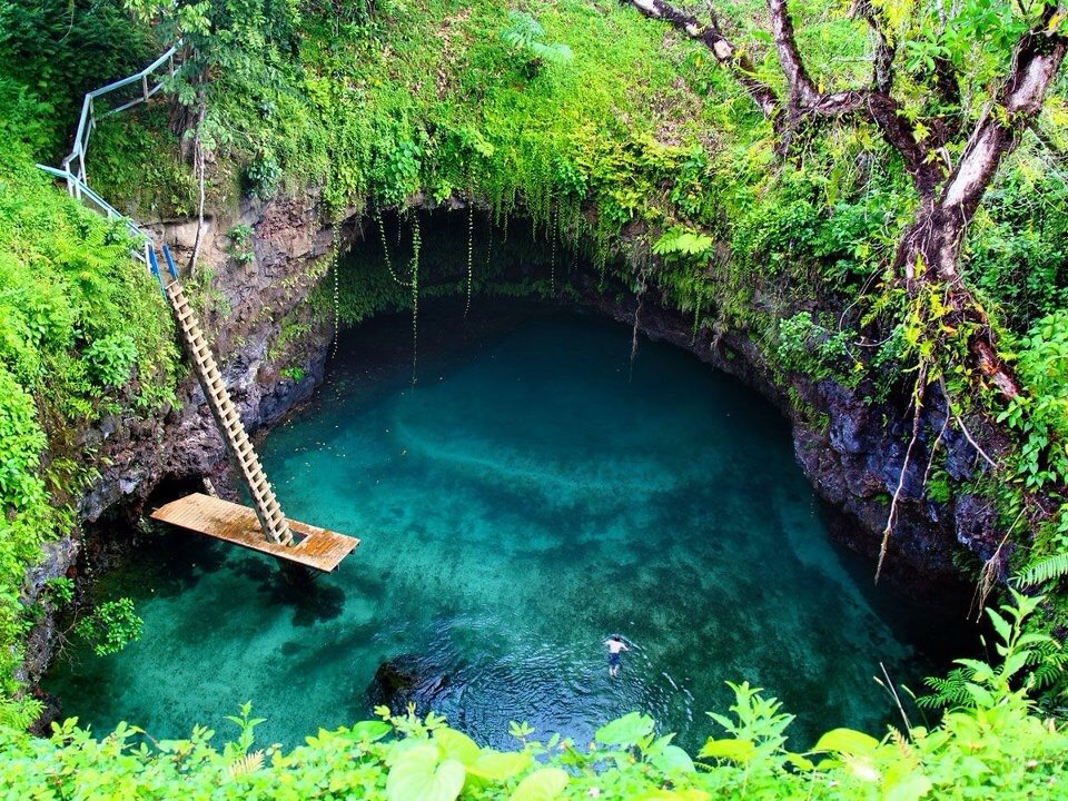 Image result for enchanted river indonesia