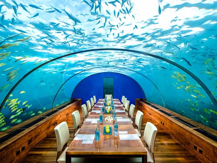Ithaa Underwater Restaurant in Maldives4