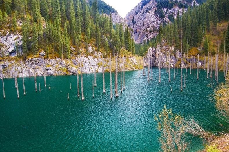 Lake Kaindy in Kazakhstan3