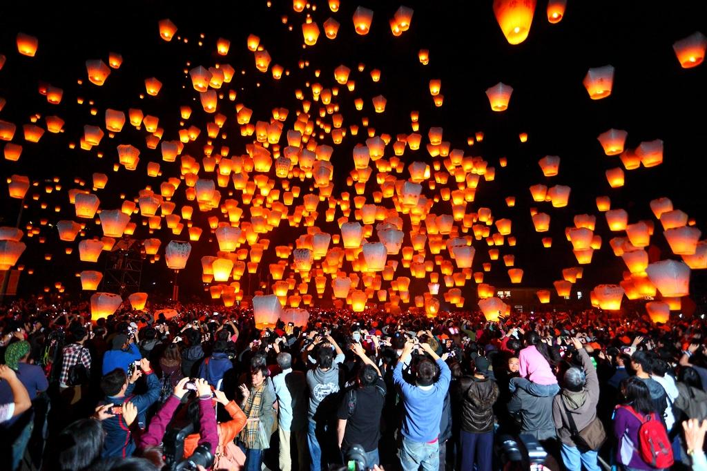Pingxi Sky Lantern Festival5